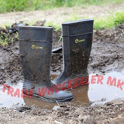 AMBLERS HYDROSAFE WELLIES SAFETY STEEL TOECAP WELLINGTONS UK-6-12 BLACK