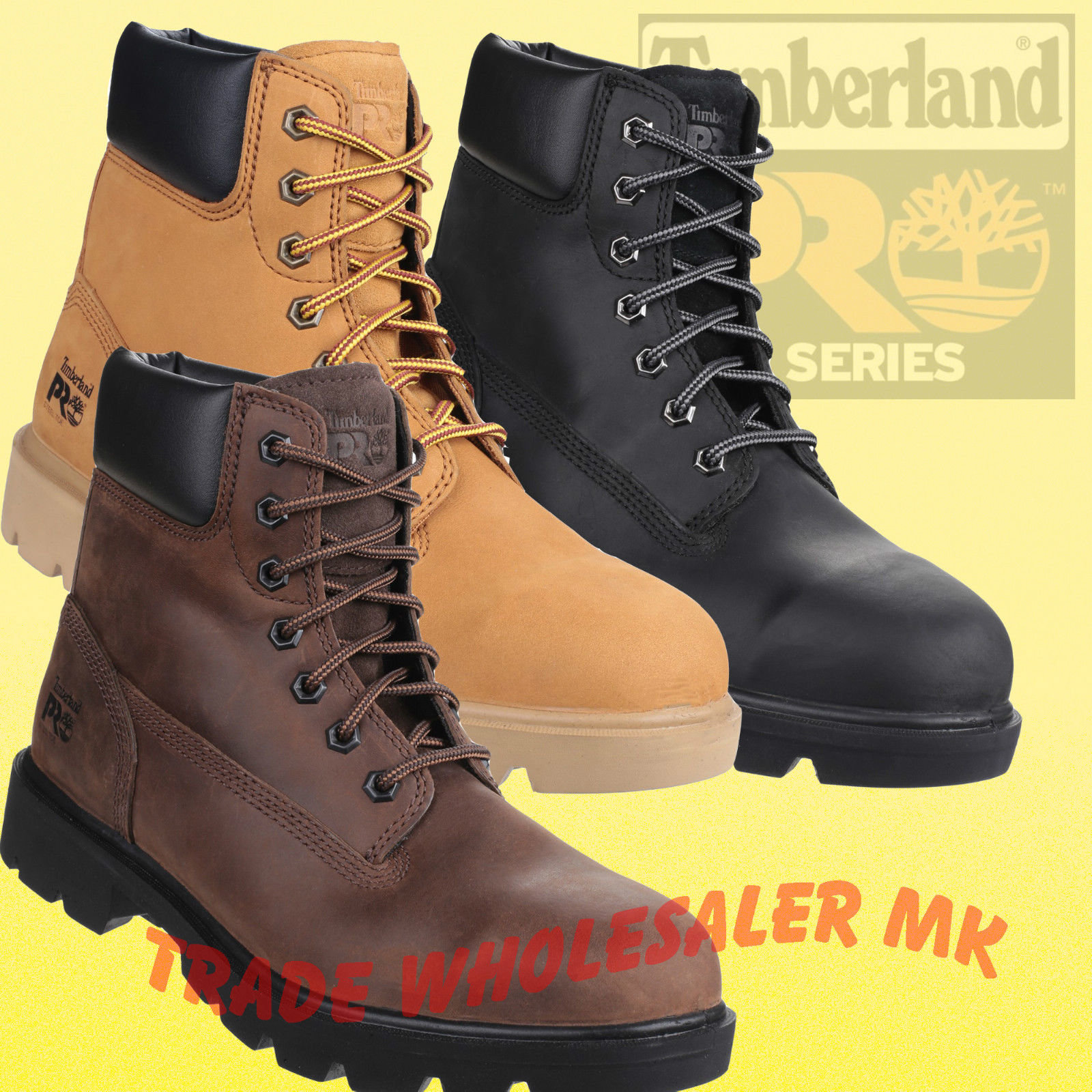aliexpress 2019 original quality first Timberland Pro Sawhorse Work Safety Boots, Honey,Black,Gaucho Steel Toe UK  6-13
