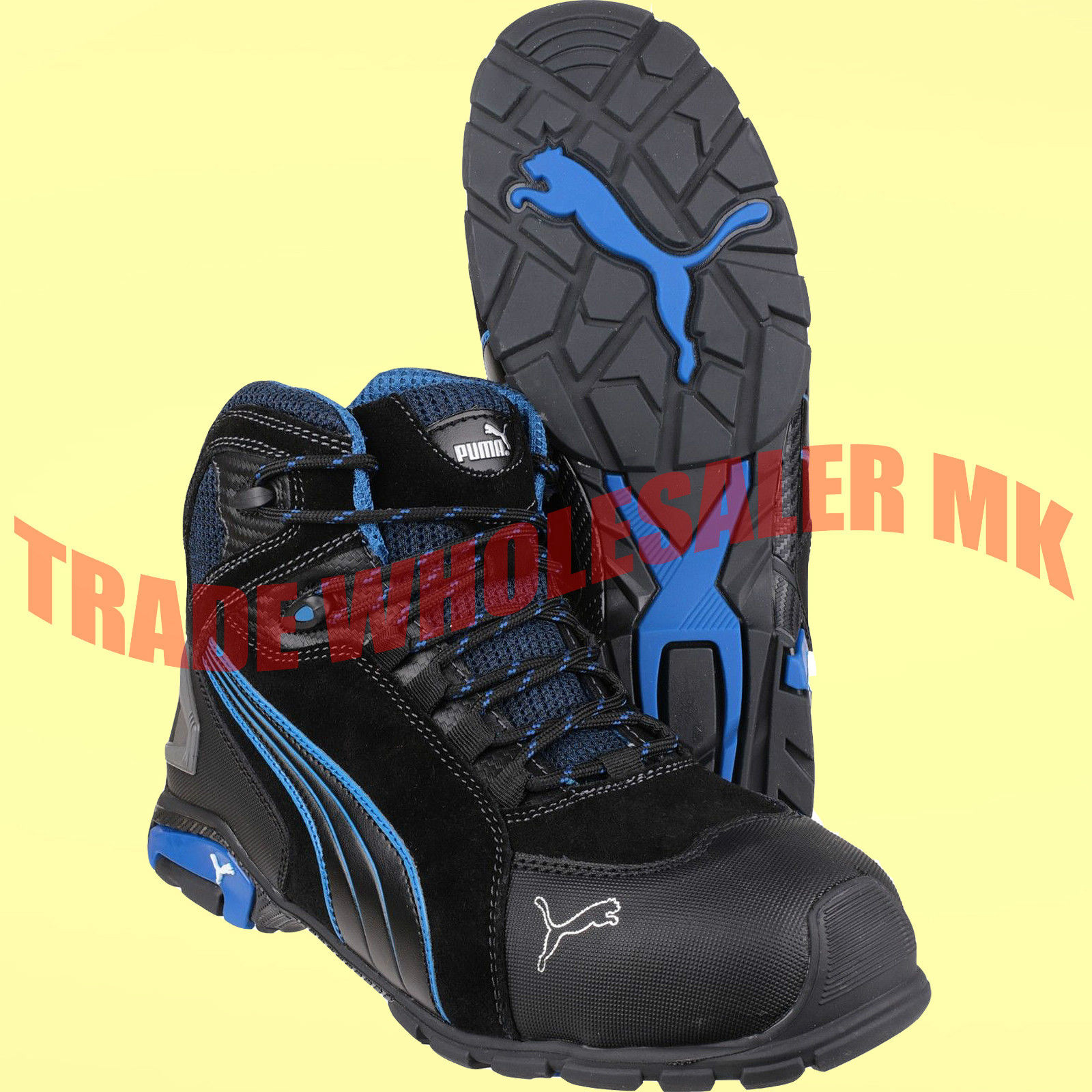 9470ef15e99 Puma Rio Industrial Mens S3 SRC Safety Midsole   Toe Cap Trainers Boots