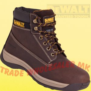 5b4daf25713 City Knights Leather Steel Toe Cap Brogue Safety Shoes Smart Office ...