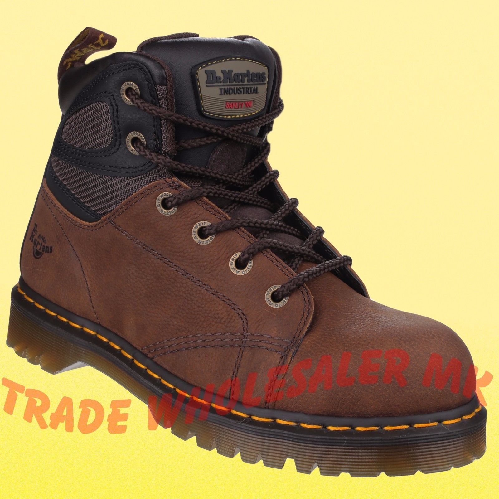 a45716be2ab Dr Martens 6 eyelet Fairleigh steel toe Safety Boots New Styling from DM