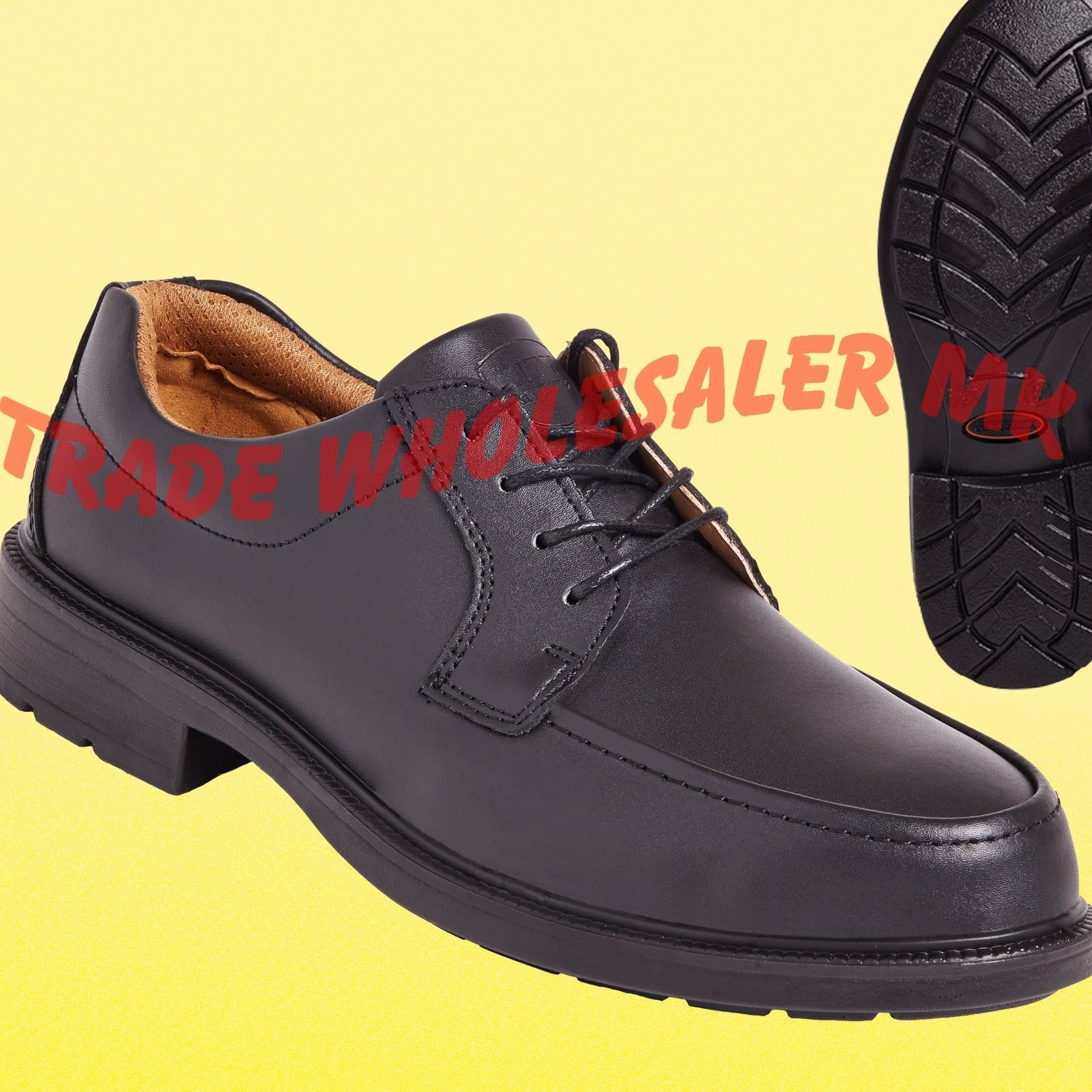 c5dbcdb2a47 City Knights Leather Steel Toe Cap Apron Style Safety Shoes Smart Office  SS502CM