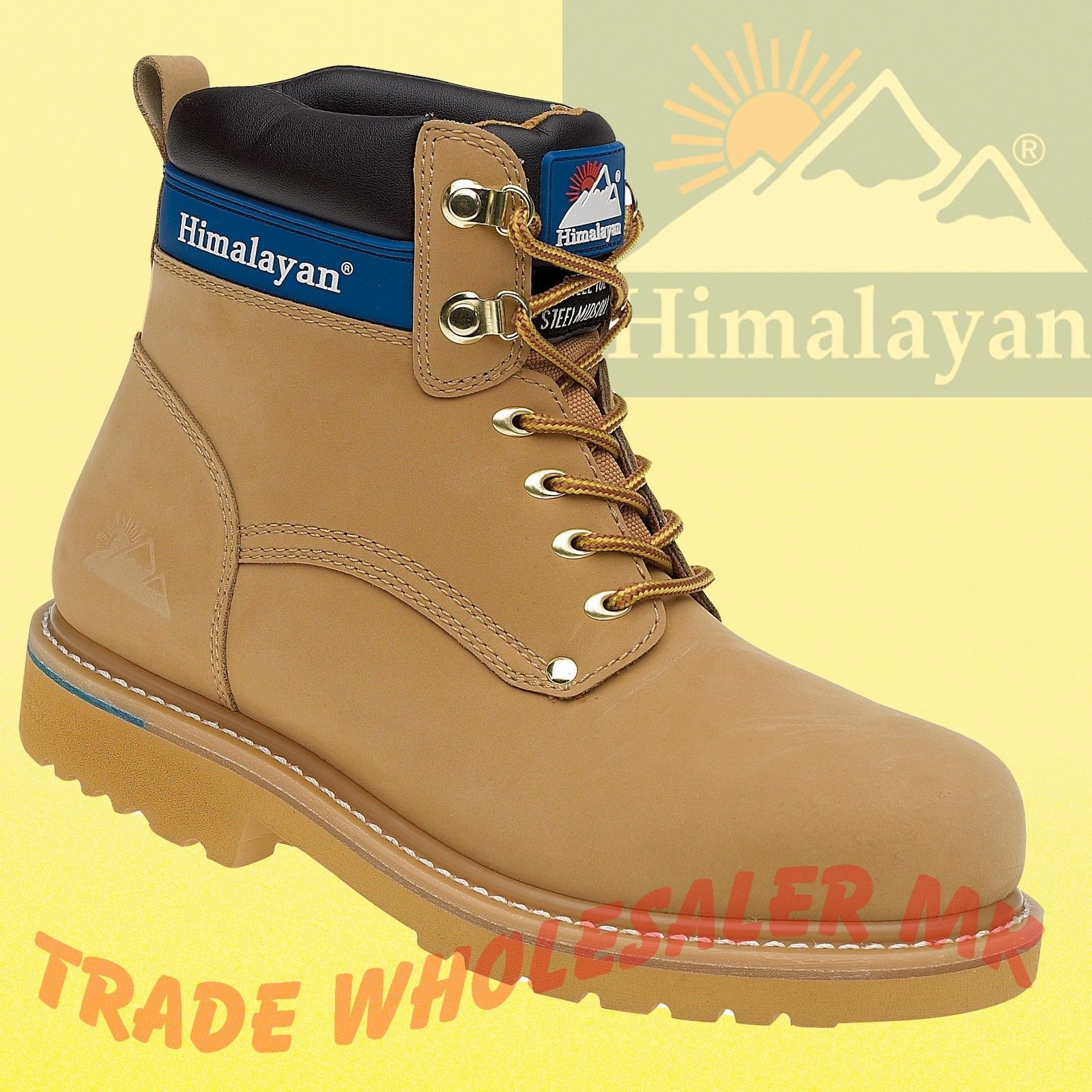 77a43d7ab46 Himalayan Steel Toe Safety Work Boots Goodyear Welted 3100/3402 UK 6-12 SBP  SRA