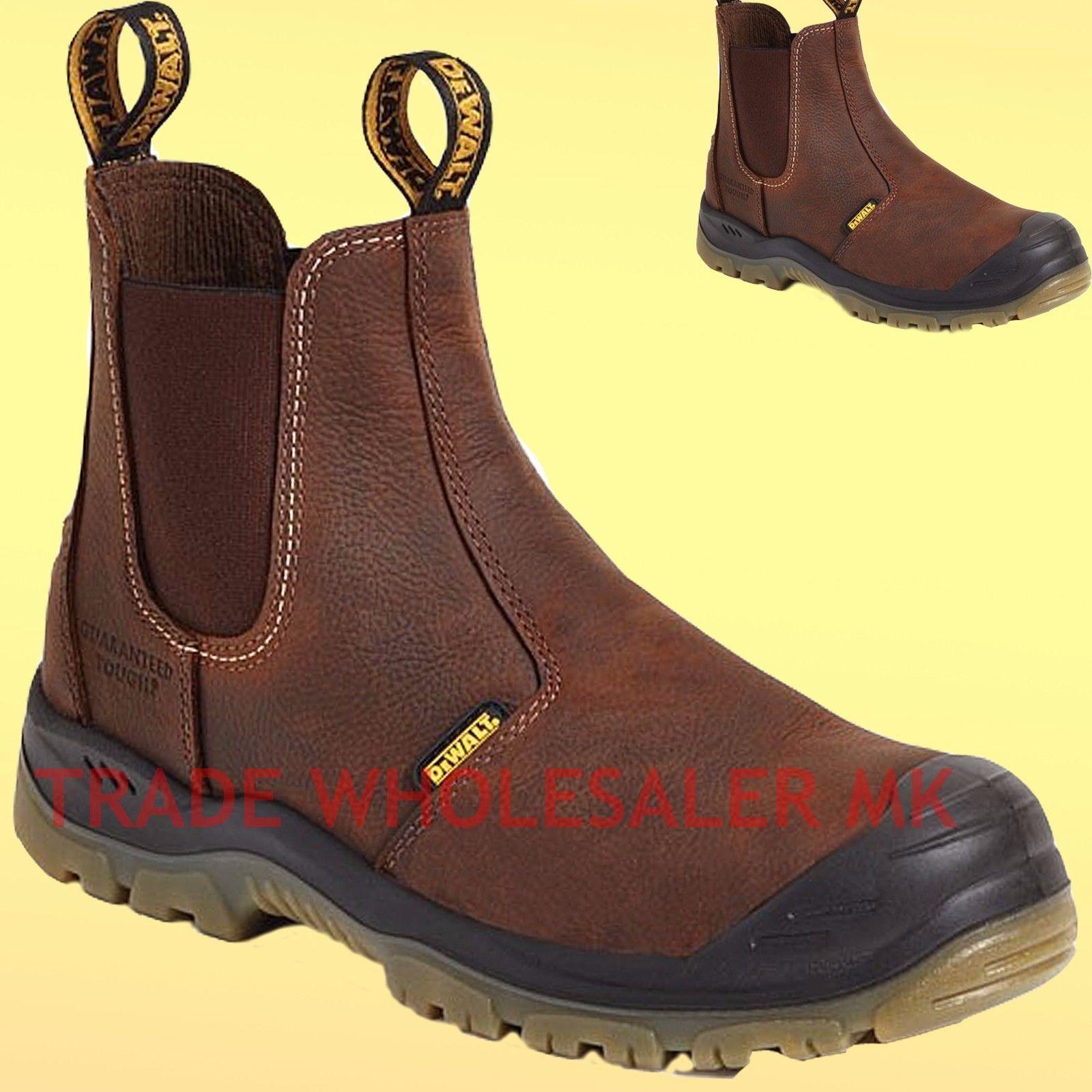 d5d461eaef9 DeWalt Mens Nitrogen Steel Toe S3 Safety Dealer Slip On Work Boots Chelsea  boot