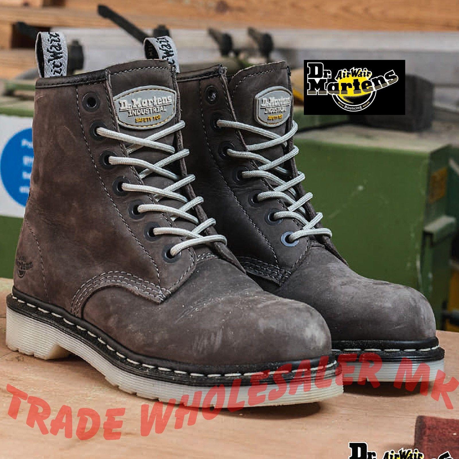 Dr Martens Ladies Steel Toe Cap Safety Boots Doc Martins Maple DM/'s 6701