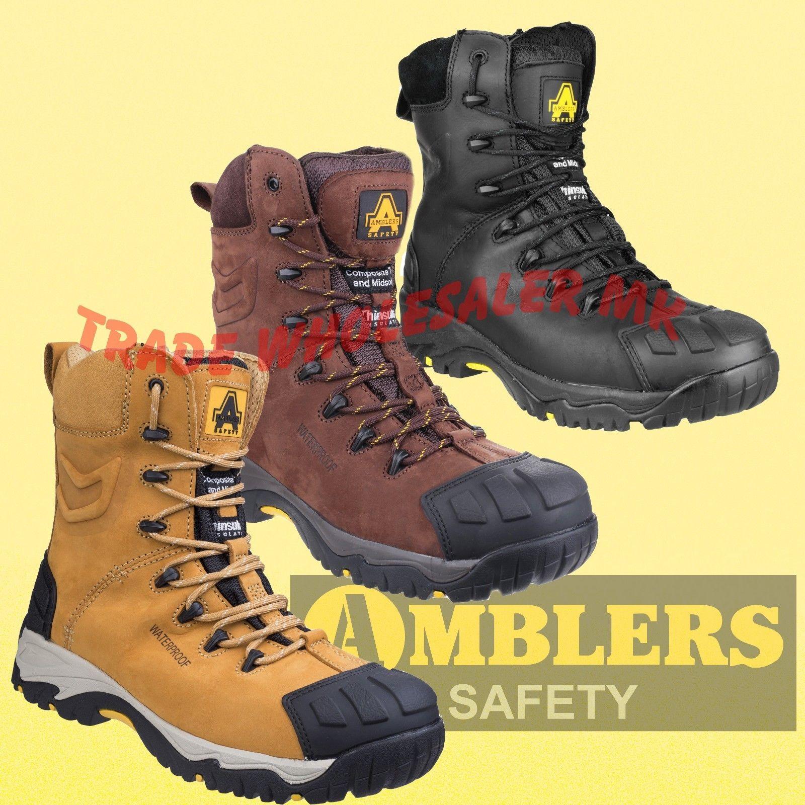bde74b1a36d Amblers Safety Boots Waterproof, Honey, Black Brown -Zip Combat  FS995/998/999