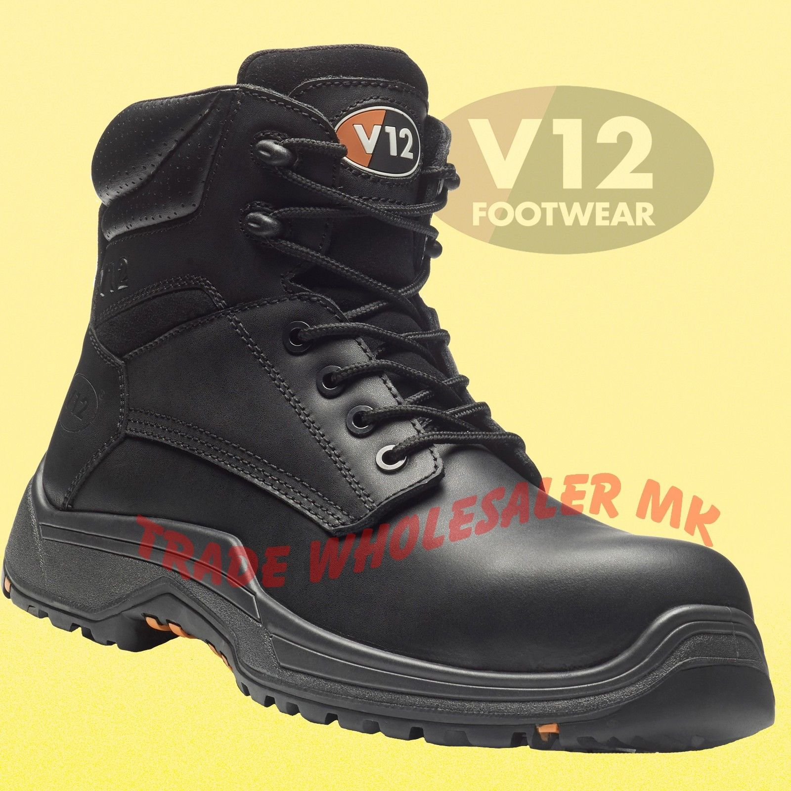 new authentic official store lowest discount V12 BISON LEATHER WORK COMPOSITE TOE CAP SAFETY BOOTS STEEL MIDSOLE