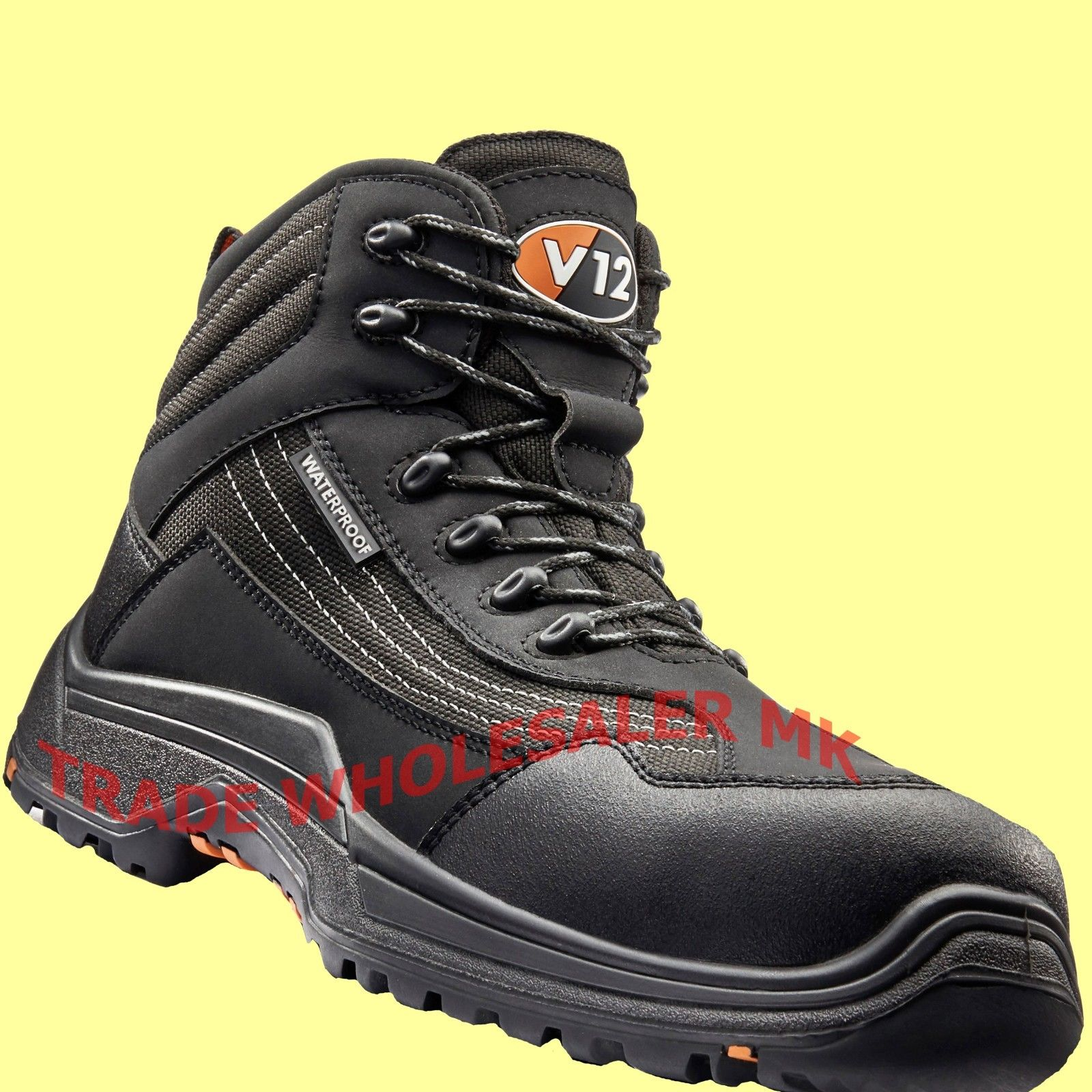 28abc11b12270 V12 CAIMAN Waterproof Hiker Safety Work Boots Composite Toe Midsole Metal  Free
