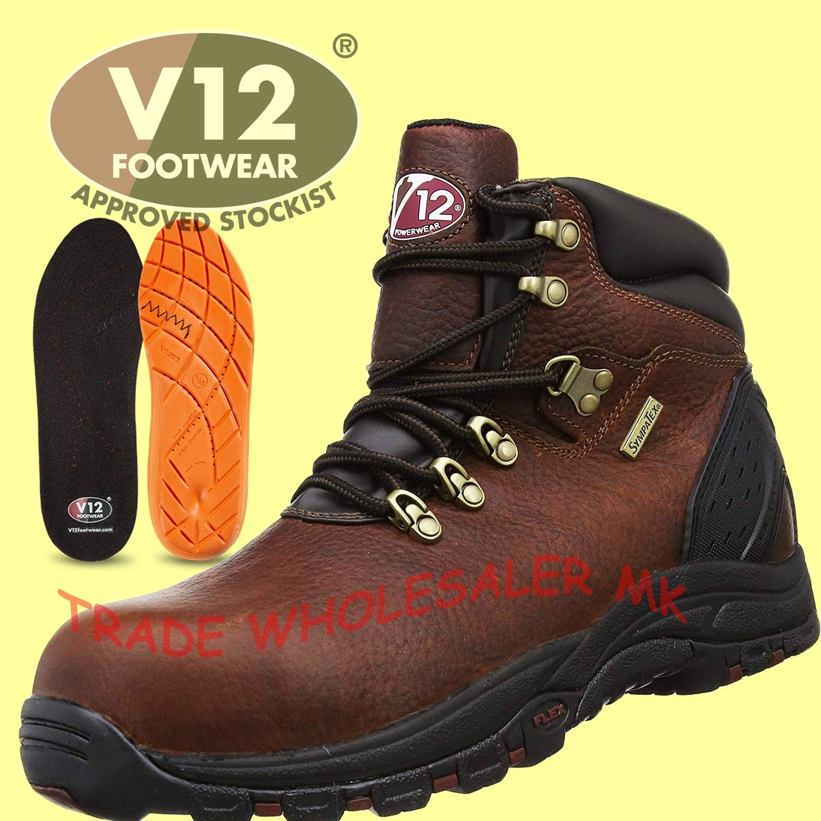 d37d69935aa V12 STORM WATERPROOF SAFETY BOOTS WORK SAFETY V1215 Breathable Membrane