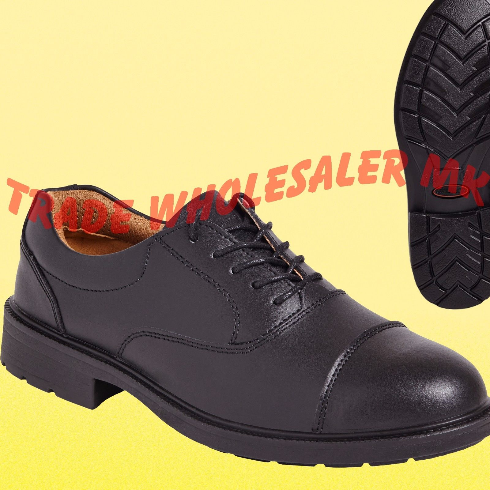 City Knights Leather Steel Toe Cap